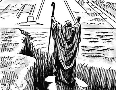 Moses Vodka Illustration