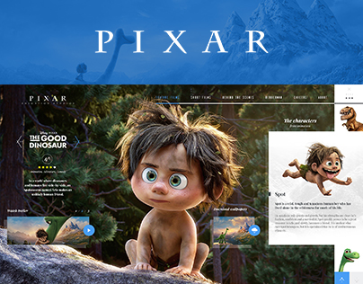 Pixar Website Concept