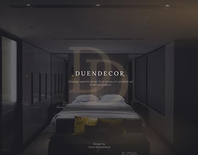 DuenDecor – landing design