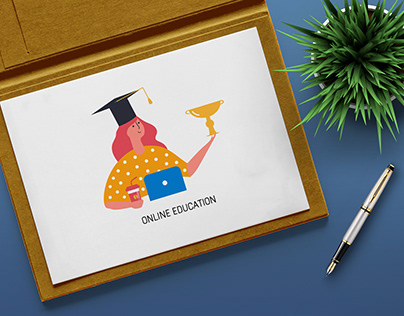 Icons of Online education for a different design.
