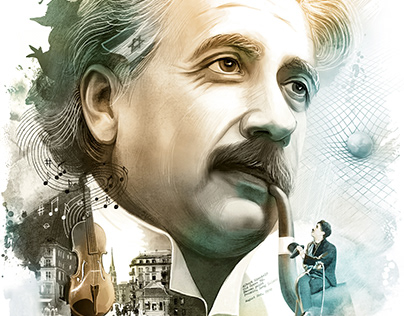 Illustrations (portraits of famous people) for calendar
