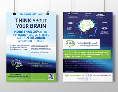 Brain Foundation Brain Awareness Week Posters