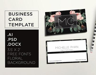 Floral, elegant business card