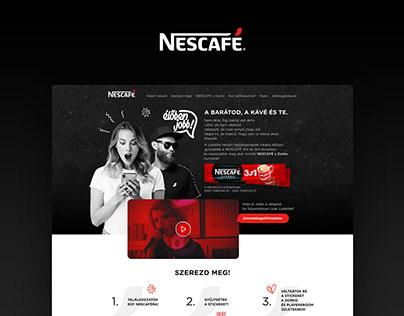 Nescafé X Dorko promotional campaign website design