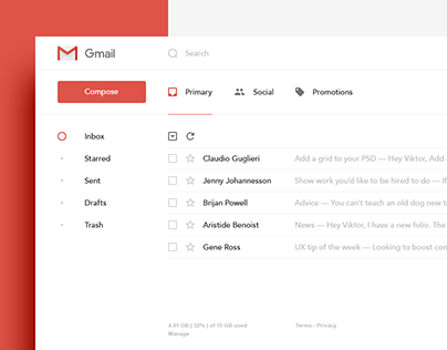 Gmail — Redesign