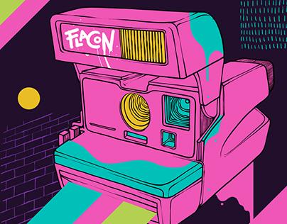 «Flacon» | illustration for office Graffiti
