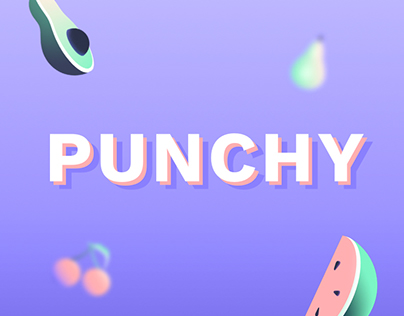 Punchy — Vegan Punching-ball identity