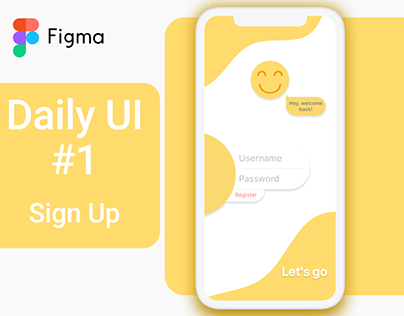 Daily UI #1 Sign Up / login screen