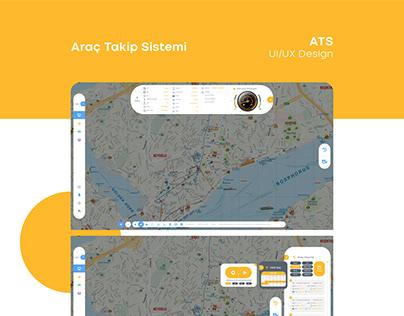 Vehicle Tracking System UI/UX Design