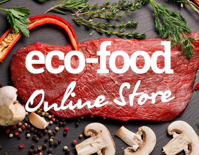 Online store products. Online food shop