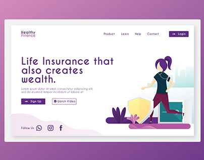Landing Page Healthy