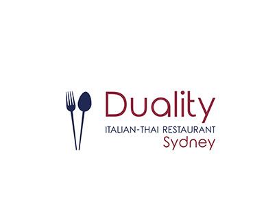 Logo - Duality Italian-Thai Restaurant Sydney