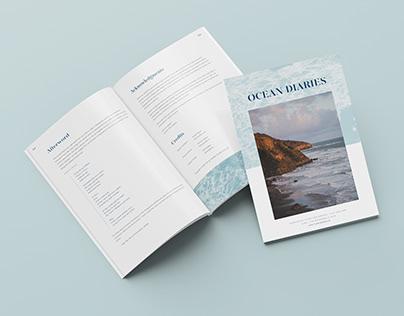 A4 Beach Booklet Design