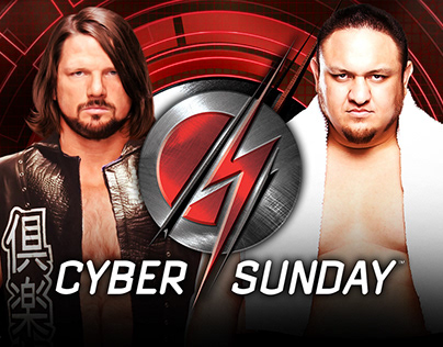 WWE Cyber Sunday Match Card Style