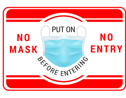 No Mask No Entry Corona Safe