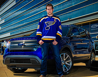 2014-15 St. Louis Blues / Ford  Editorial shoot