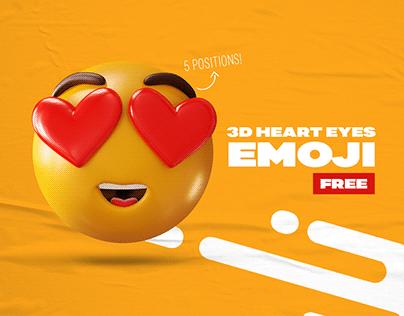 [FREE] 3D Heart Eyes Emoji