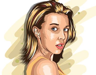 Millie Bobby Brown Portrait Illustration