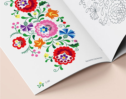 Embroidery coloring booklet | Print design
