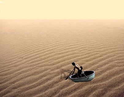 surreal vietnamese sand dune