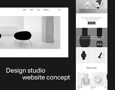 DESIGN STUDIO / website concept