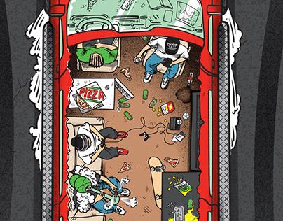 SILENT skateboards illustration