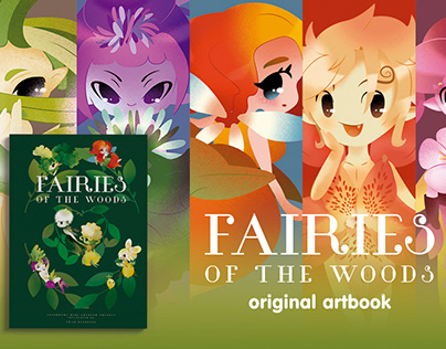 Fairies of the Woods / Artbook illustrated
