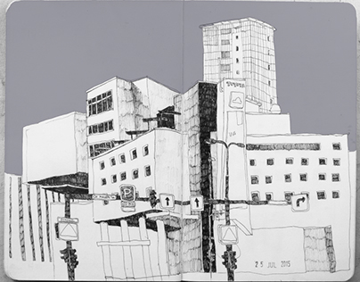 Black urban sketchbook 01.06. - 24.08.2015