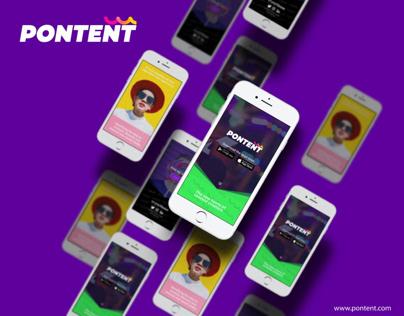 Pontent app - Landing Page