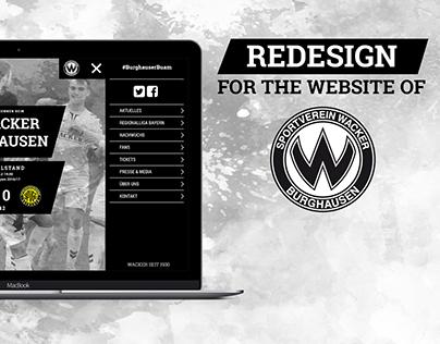 Redesign Website // SV Wacker Burghausen