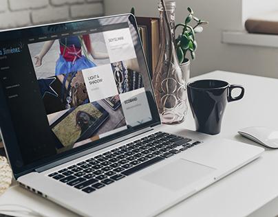 Web Isa Jiménez Designed by