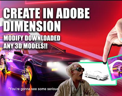 CREATE IN ADOBE DIMENSION    Modify ANY Downloaded OBJ.