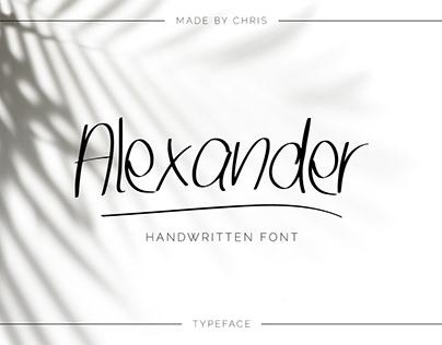Alexander - Handwritten Font