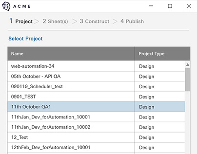 Plugin Mockups for Revit 'Publish' Tool