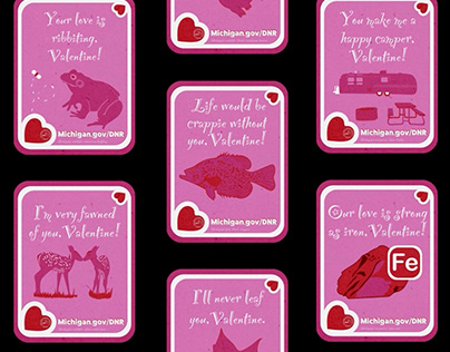 Punny Natural Resource-themed Valentine's Day Cards