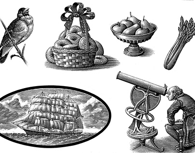 The Steven Noble Stock Illustrations Collection