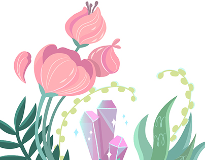 Vector flowers and pattern design