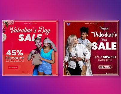 Valentine's Day sale Social Media post
