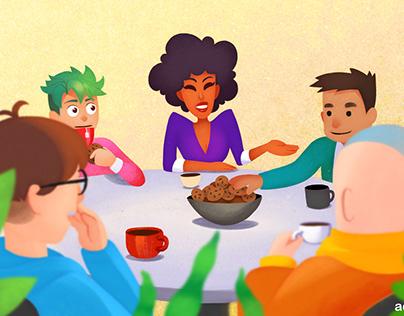 English event illustration