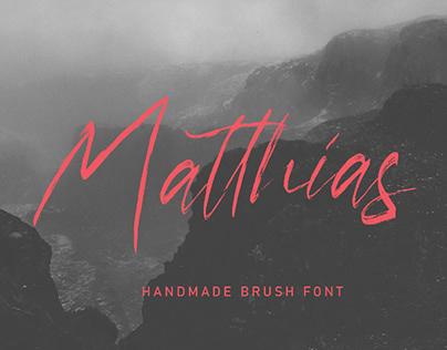 MATTHIAS - FREE HANDWRITTEN BRUSH SCRIPT