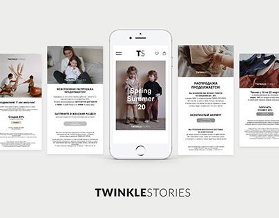 TwinkleStories. Kids Brand. Banners & Ad