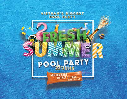 FRESH SUMMER POOL PARTY KV