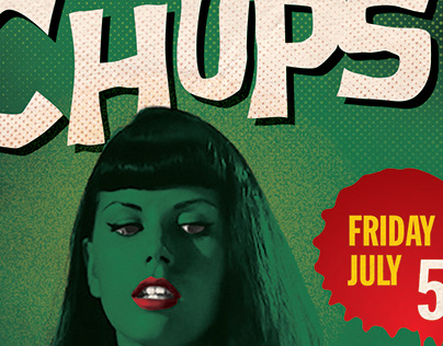 Flyer for Amsterdam Beatclub starring the Messerchups