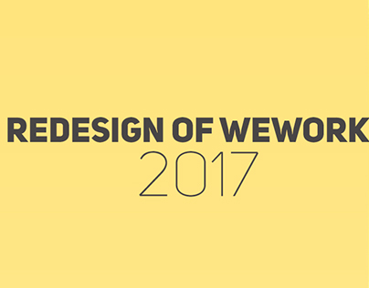 WeWork Redesign (Free psd)