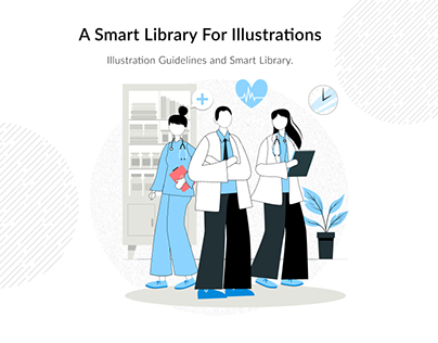 Smart illustration library for a medical company
