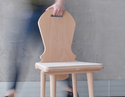 Juhas - chair inspired by traditional folk furniture
