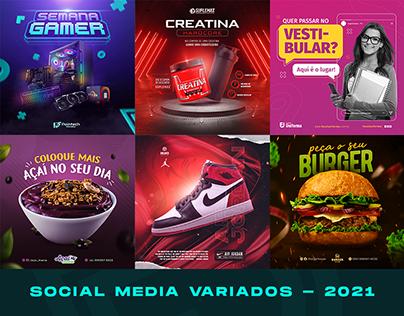 Social Media Variados - 2021/01