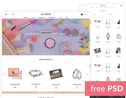 Cetshop - Freebie e-commerce template - free PSD