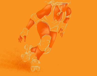 Roller Derby Illustration