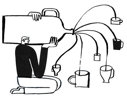 Branding illustrations for Mailchimp